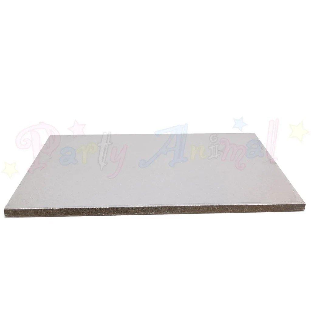 hight resolution of  oblong drum cake boards 16x12 silver foil