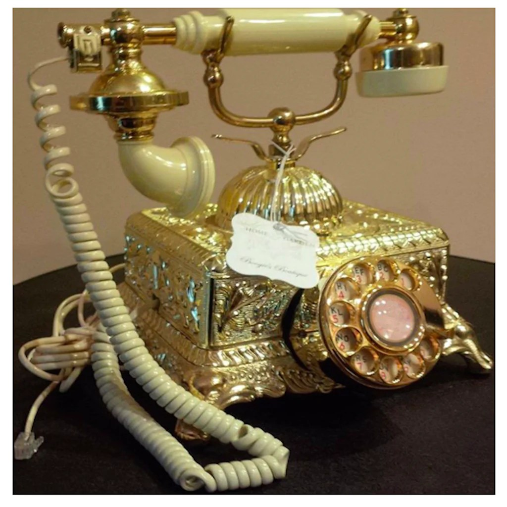 hight resolution of vintage ornate victorian rotary telephone