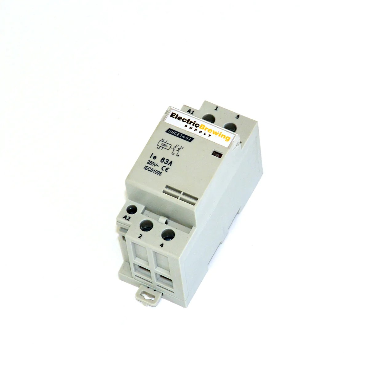 medium resolution of 2 pole 63a 110v coil din rail contactor