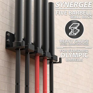 synergee vertical barbell wall storage racks