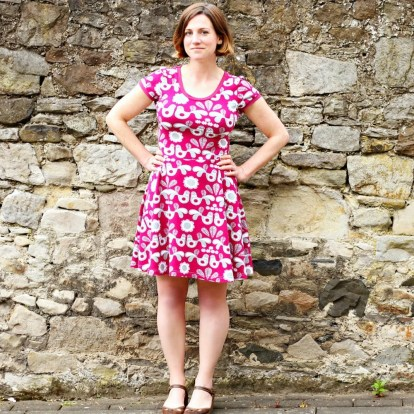 Kitschy Koo - Lady Skater Dress - the large opening for the head makes this a easy-to-wear dress for women with Alzheimer's