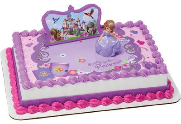 Sofia The First 3d Cake Topper Toys Sugarprintcess