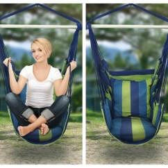 White Bohemian Hanging Chair Fluffy Bean Bag Blue Green Boho Cushioned Hammock