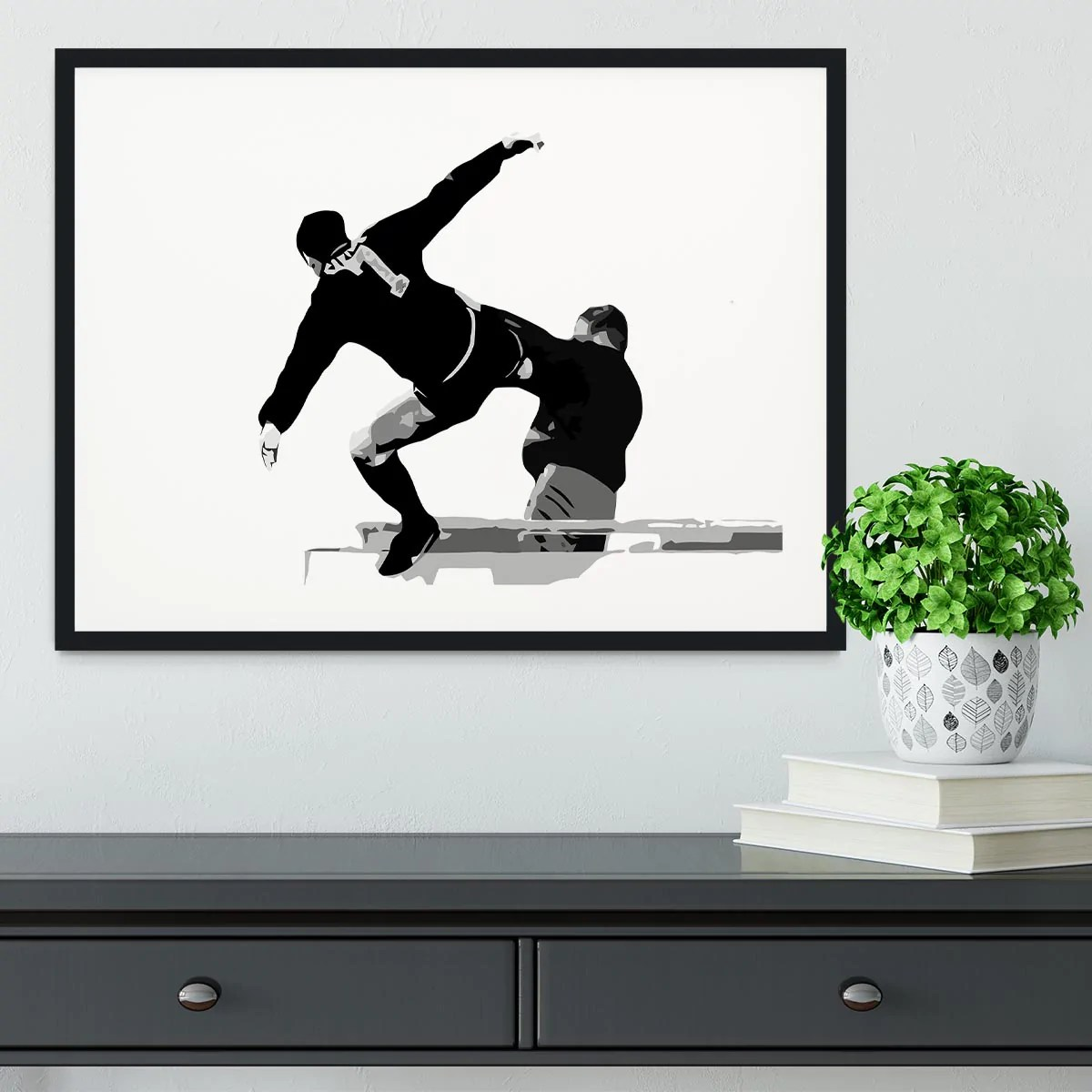 The kick of the king (eric cantona) art print. Eric Cantona Kick Framed Print Canvas Art Rocks