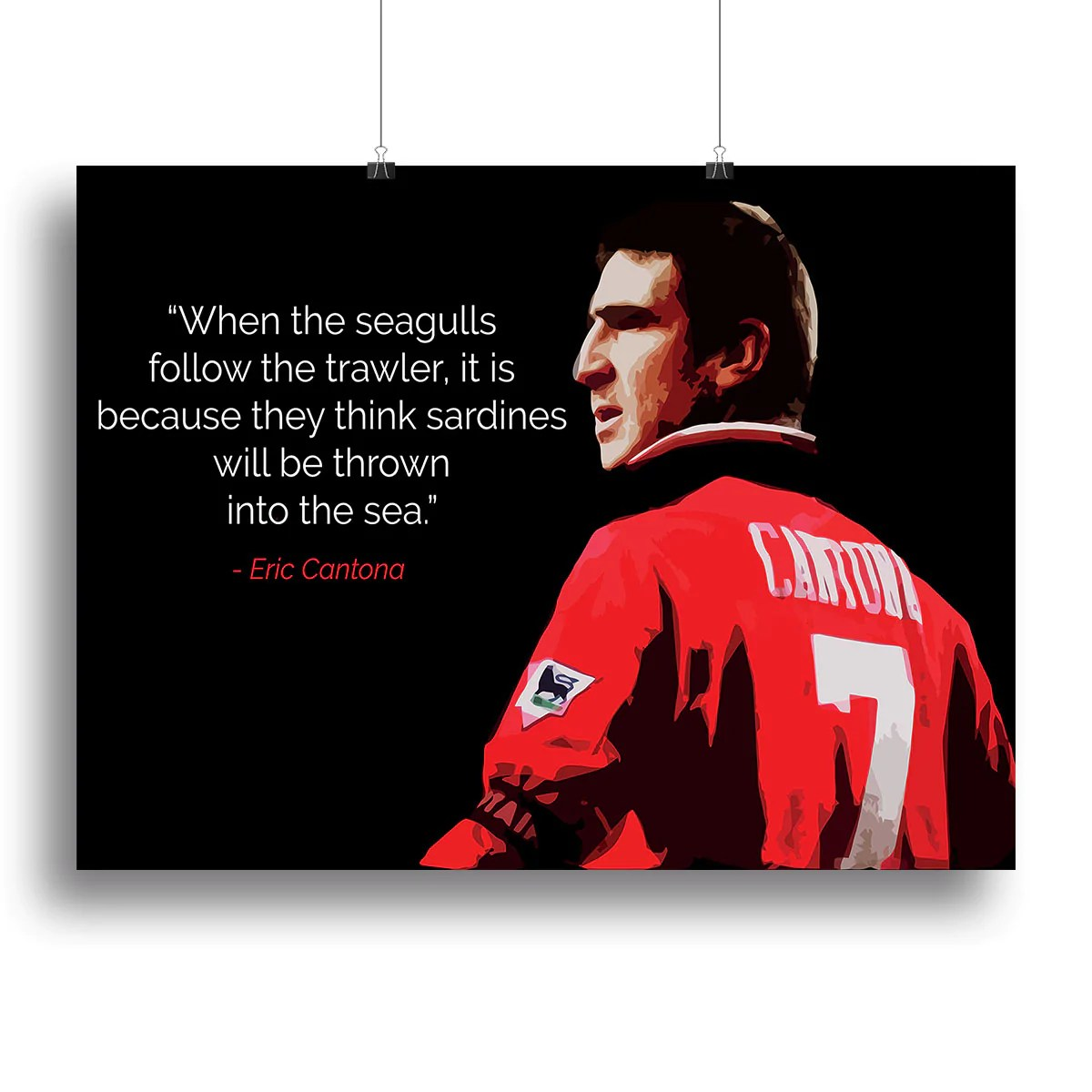 Eric cantona (born may 24, 1966) is a french former footballer of the 1990s. Eric Cantona Seagulls Canvas Print Or Poster Canvas Art Rocks