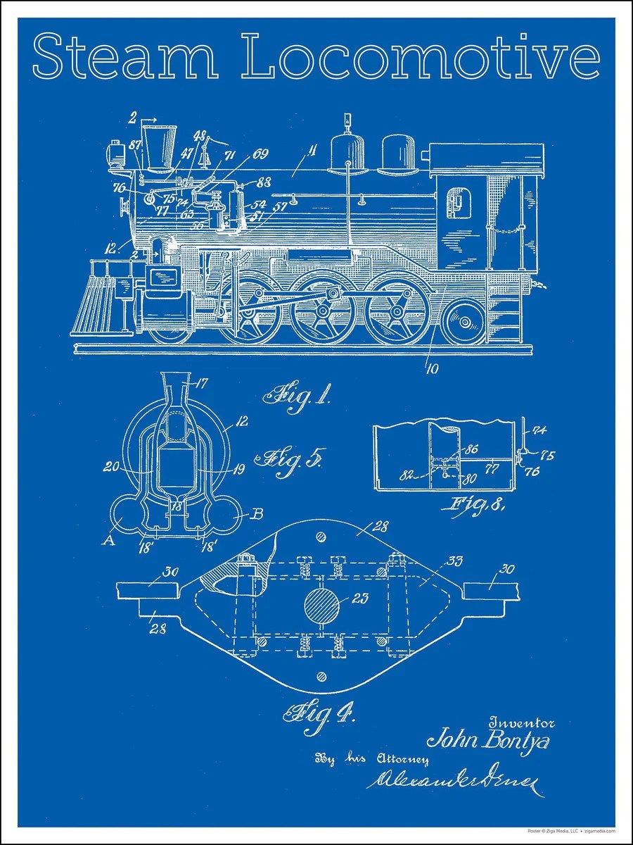 hight resolution of electric locomotive of a engineering diagram