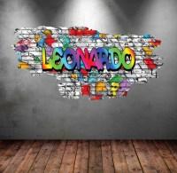 Full Colour Personalised Graffiti Wall Sticker WSD110 ...