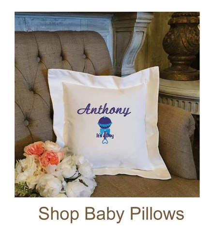 personalized embroidered pillow gifts