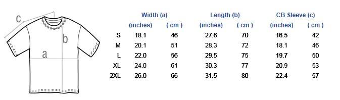 Size chart also sizing  warlord europe rh warlordeurope