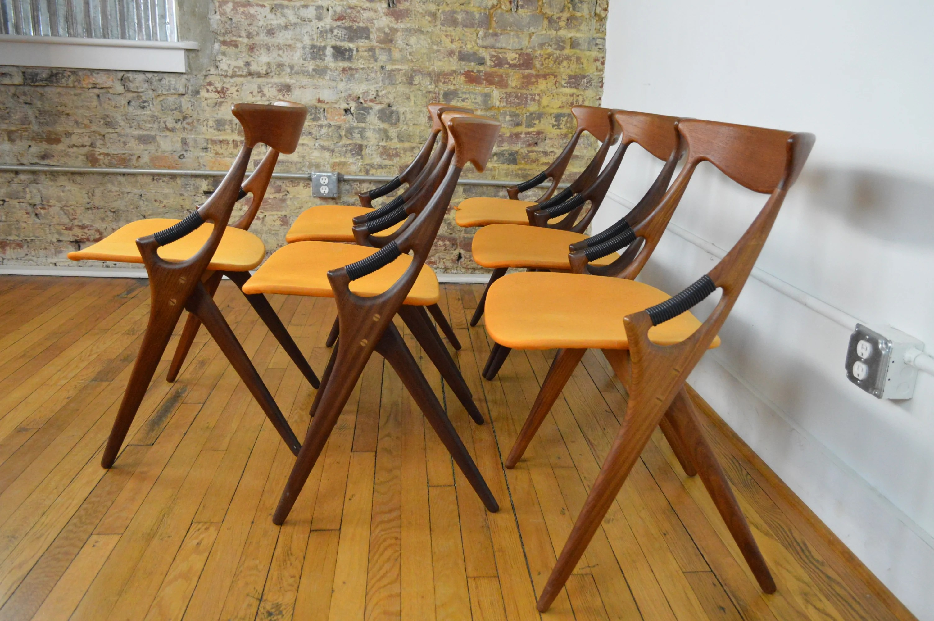 danish dining chair black and cream chairs amazing set of six arne hovmand olsen for mogens kold