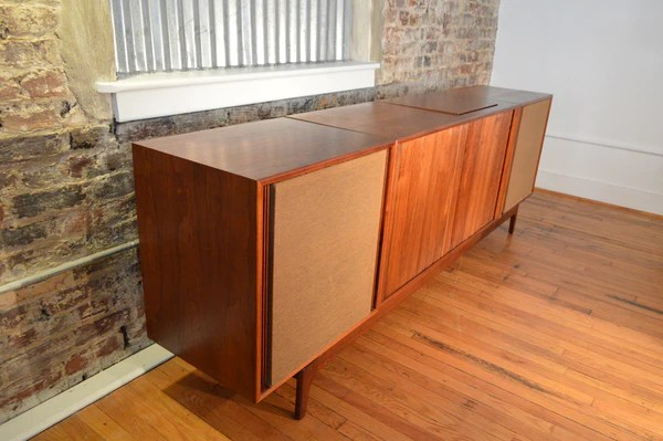 Barzilay Danish Modern Stereo Console with ElectroVoice