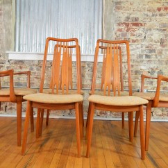 Danish Dining Chair Cheap Set Of Six High Back Anders Jensen Style Teak Windsor Chairs
