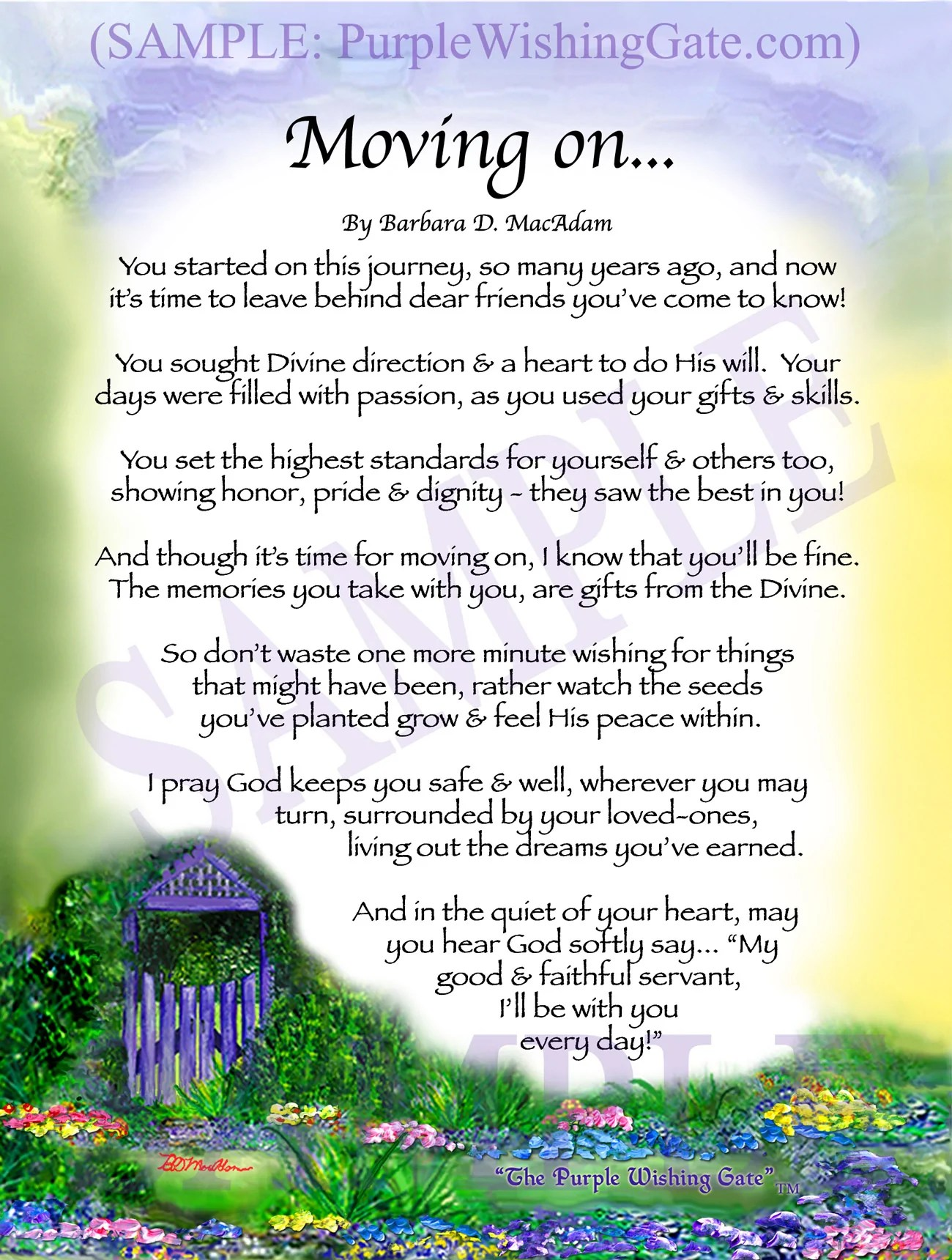 A RETIREMENT BLESSING Framed  Personalized Gifts