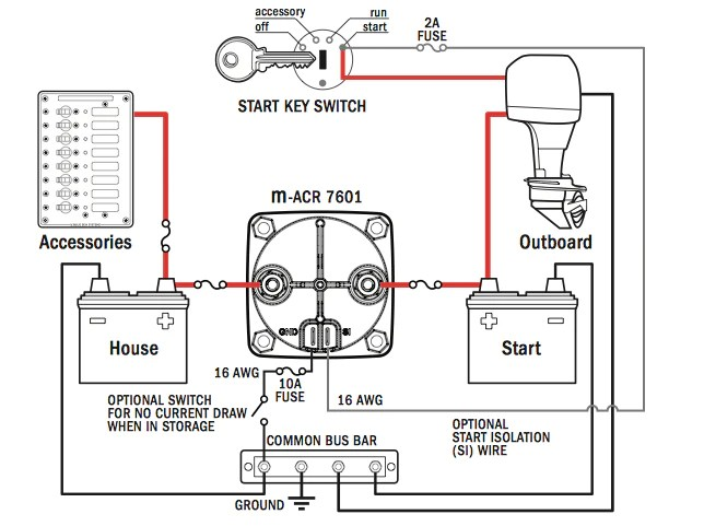 blue sea add a battery wiring diagram trailer plug 7 pin round dual circuit plus switch and mini automatic charging - the wetworks