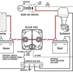 Blue Sea Mini Add A Battery Wiring Diagram 2003 Chevy Trailblazer Parts Dual Circuit Plus Switch And Automatic Charging - The Wetworks