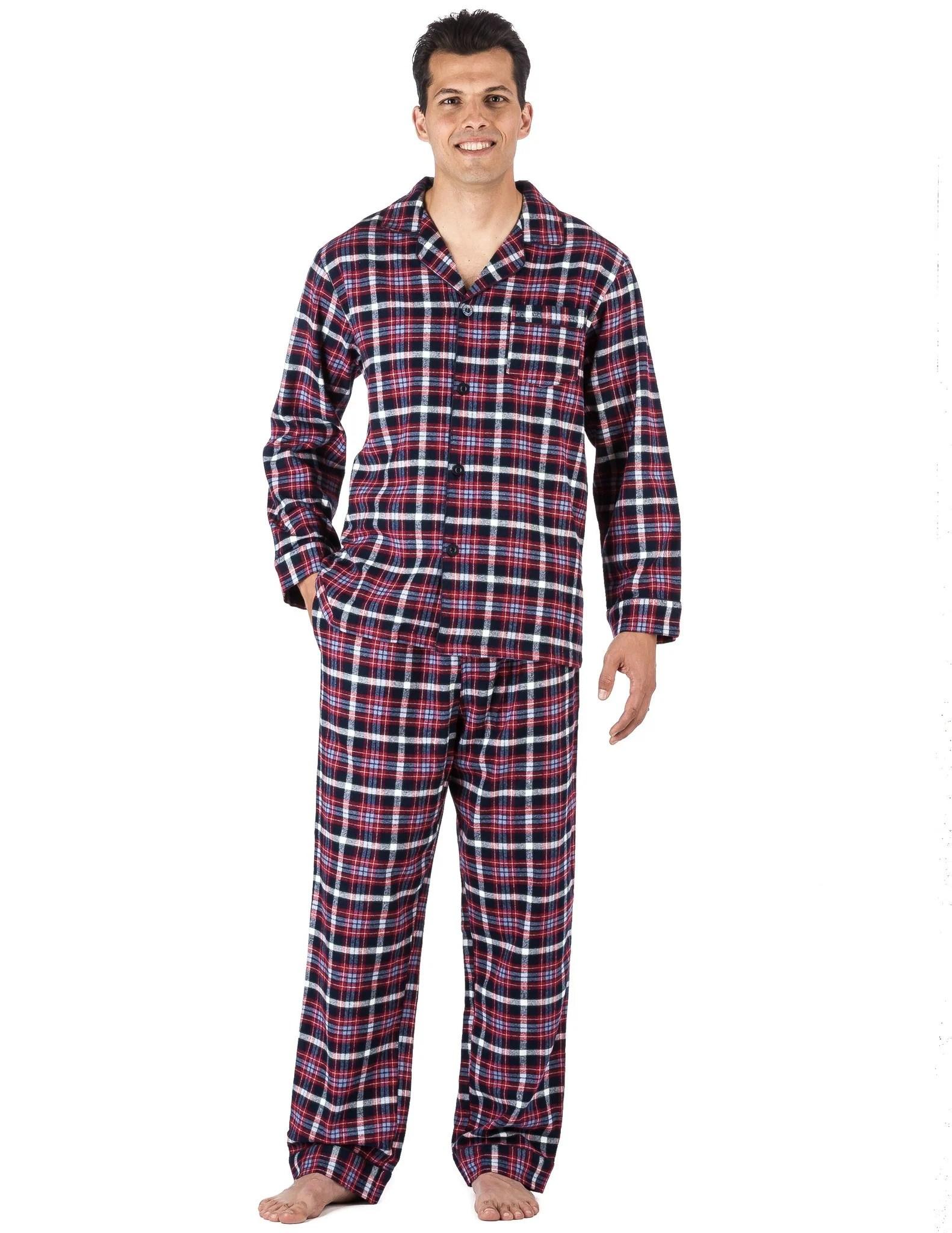 Men' Premium 100 Cotton Flannel Pajama Sleepwear Set