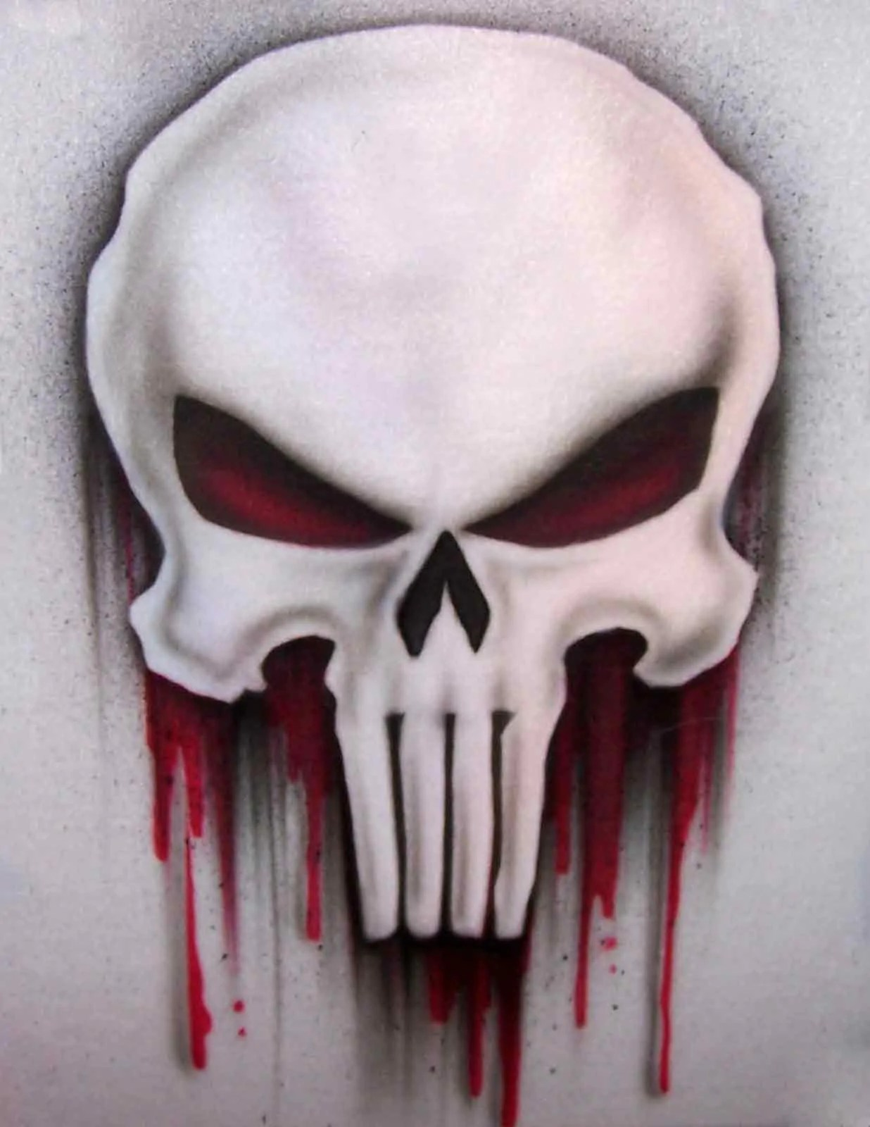 Airbrush Punisher Skull Shirt