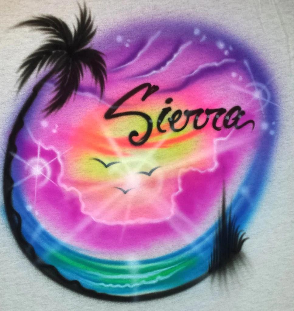 Beach Airbrush Shirts Designs