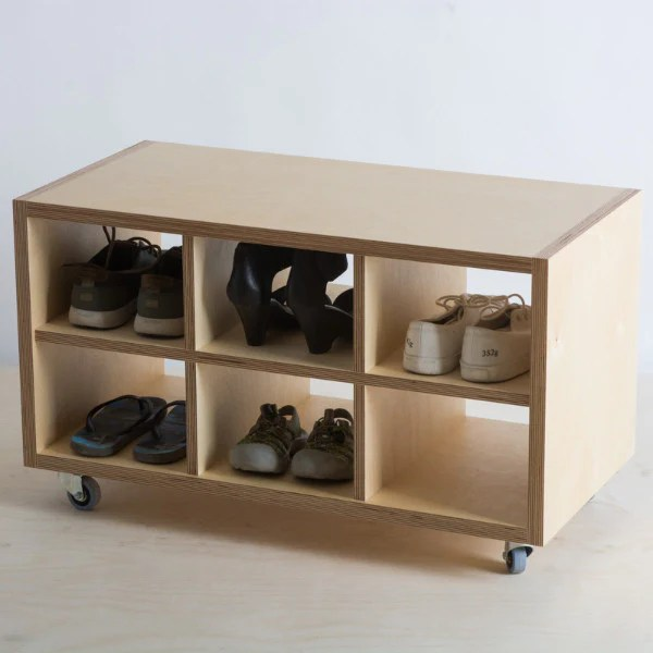 Make Furniture Birch Plywood Storage On Wheels