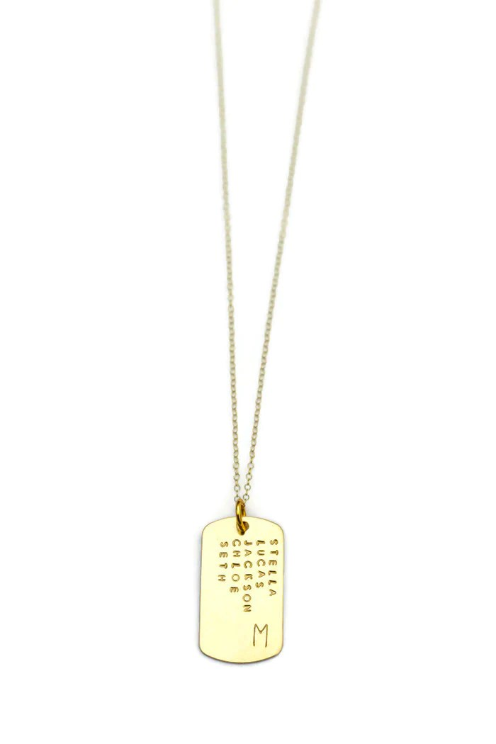 personalized dog tag gold