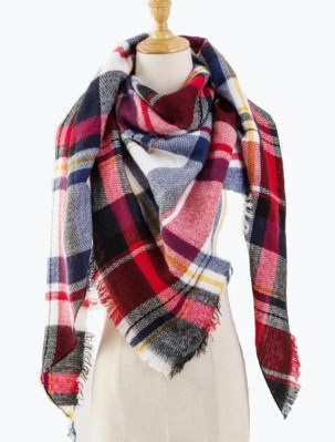 Plaid Blanket Scarves
