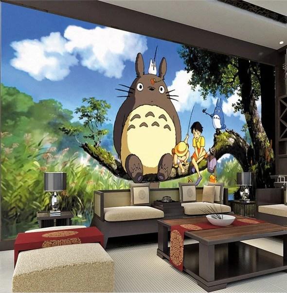 3D Totoro Japanese Anime Wallpaper For Kids Teens Mural