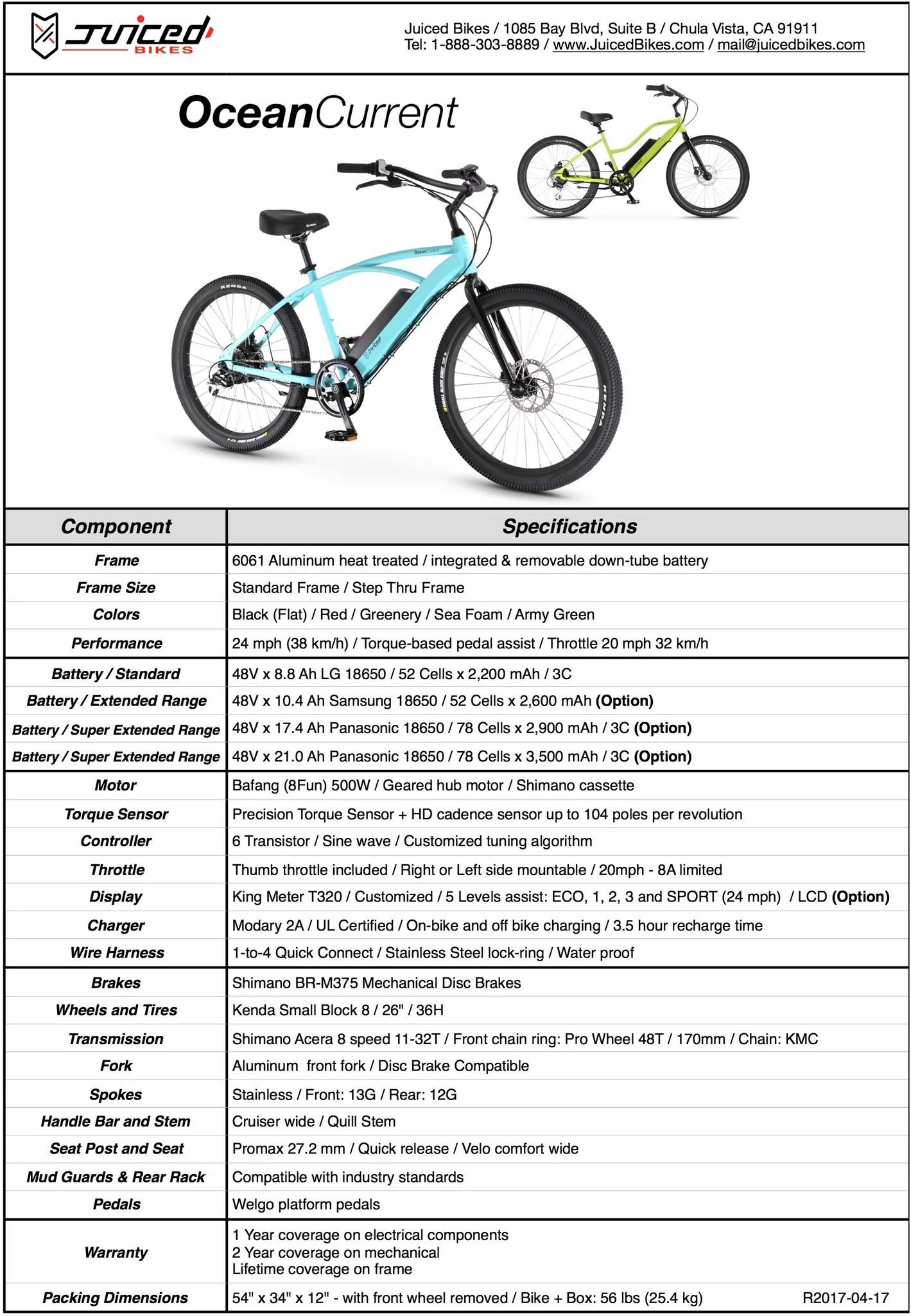 OceanCurrent Electric Beach Cruiser – Juiced Bikes