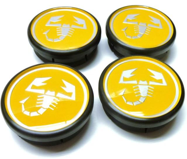 Set Of Four Yellow Alloy Wheel Centre Caps  Tributo Ferrari Partsworld Uk