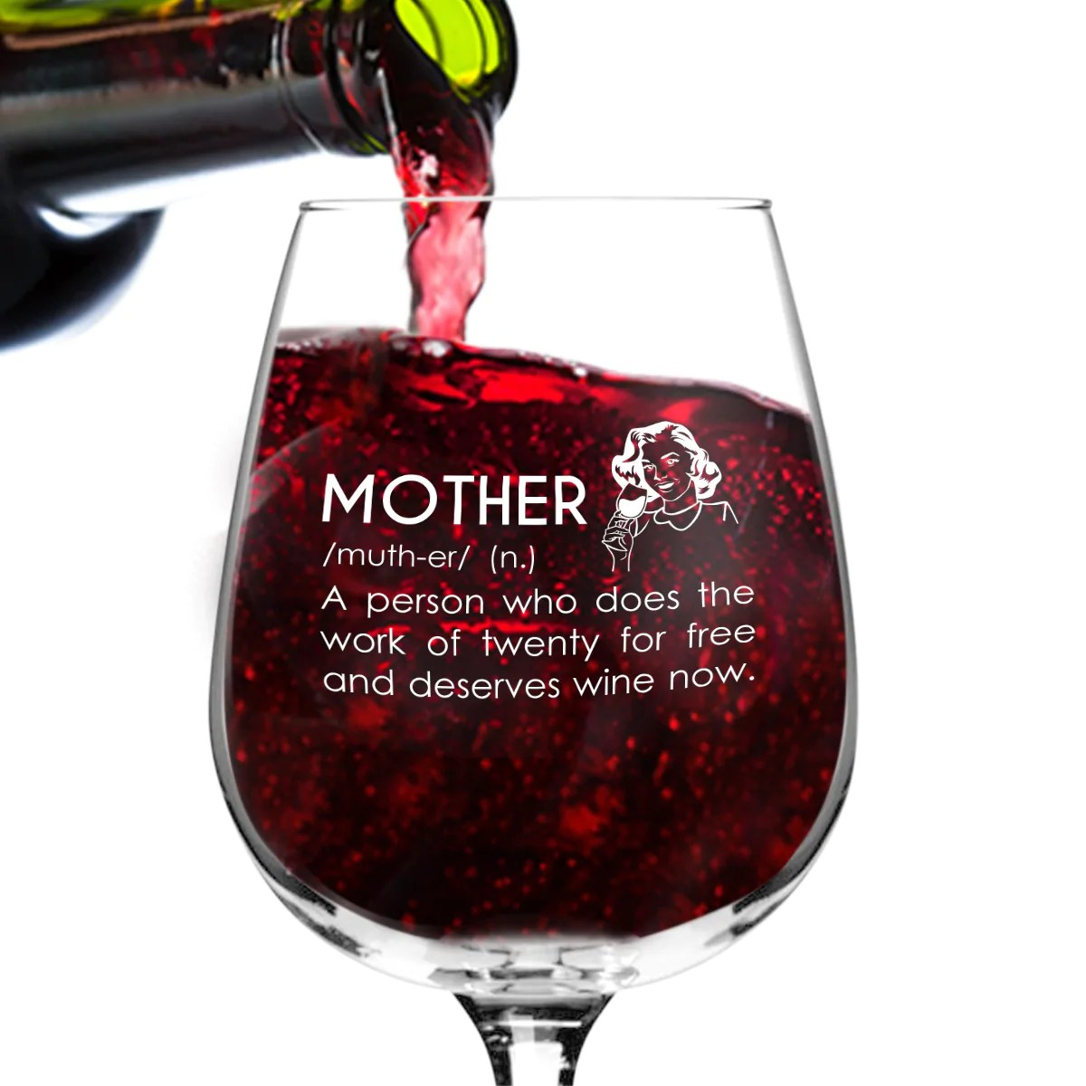 Mother Definition Funny Wine Glass Gifts For Women