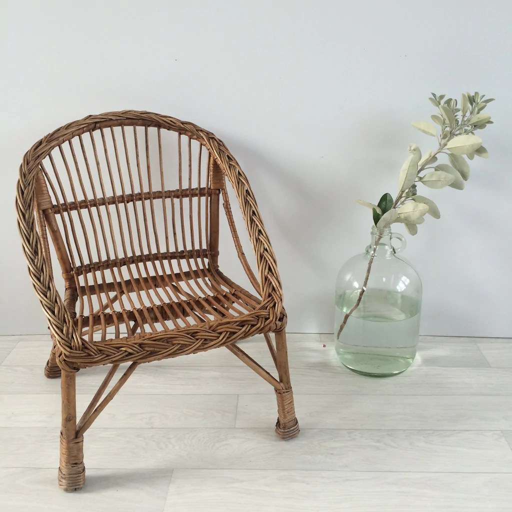 childs rattan chair ikea rolling child s wicker fauteuil enfant rotin free delivery uk france la petite brocante