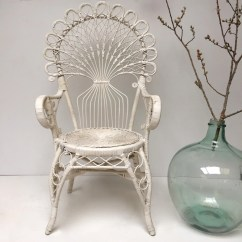 Old Wicker Chairs Uk Alera Elusion Office Chair Vintage Boho Peacock 1970s White Free