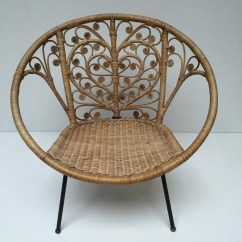 Old Wicker Chairs Uk How Much To Rent A Barber Chair Vintage Boho Peacock Lovehearts Rattan