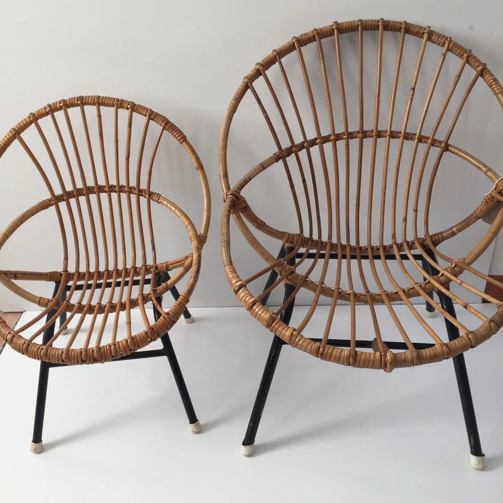 Vintage Rattan Chair Vintage Rattan Wicker Kid S Chair Metal Feet S M Reserved For Shizuka