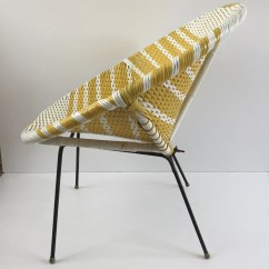 Old Wicker Chairs Uk Cheap Modern Dining Yellow And White Vintage Satellite Woven Chair