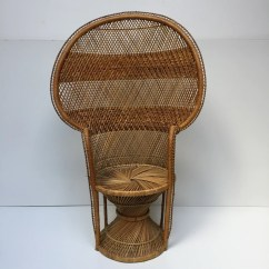Old Wicker Chairs Uk Mesh Back For Office Vintage Peacock 1970s Adult Emmanuelle Chair