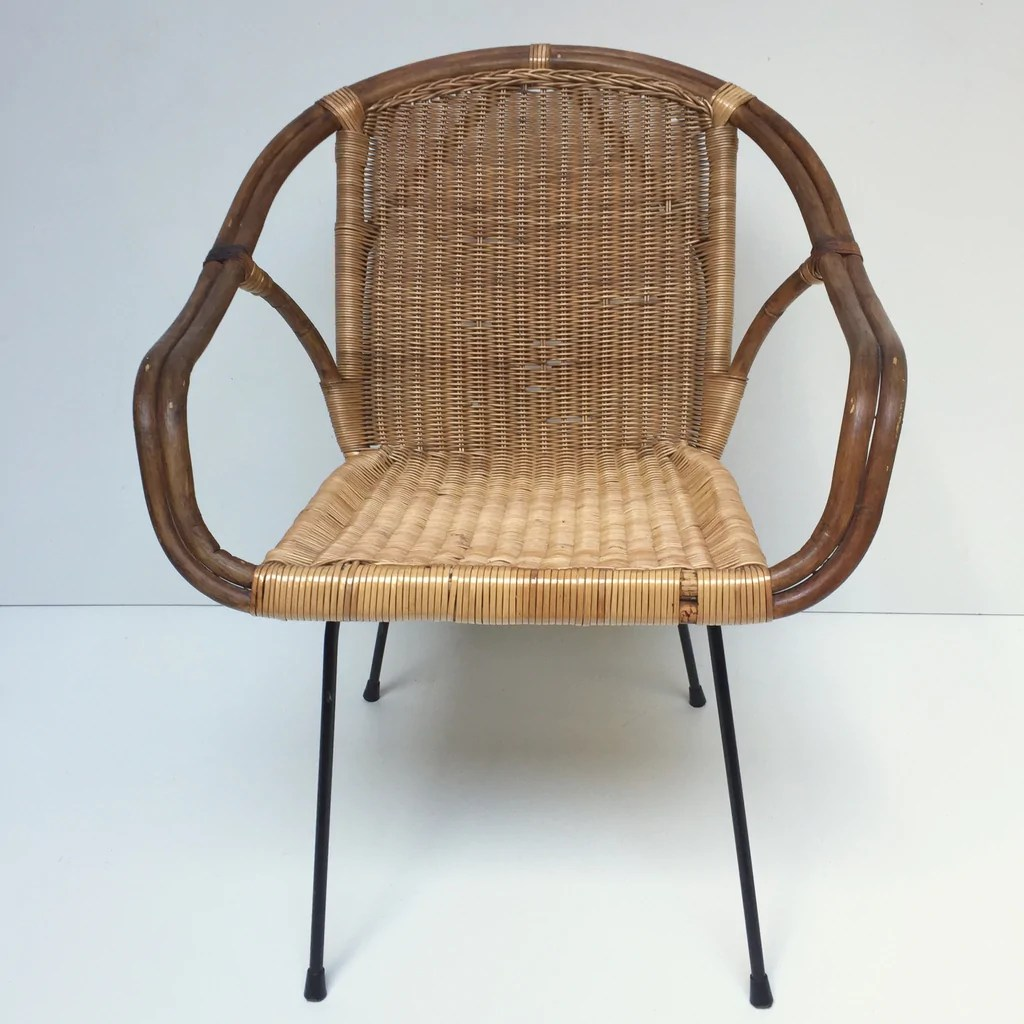 Vintage Rattan Chair Vintage Wicker Rattan Chair Fauteuil En Rotin Vintage Free Delivery Uk Livraison Gratuite France