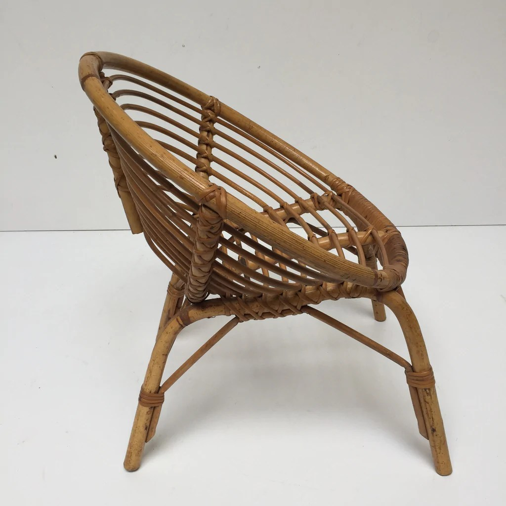 old wicker chairs uk bean bag lounge vintage rattan kid 39s sun chair fauteuil rotin