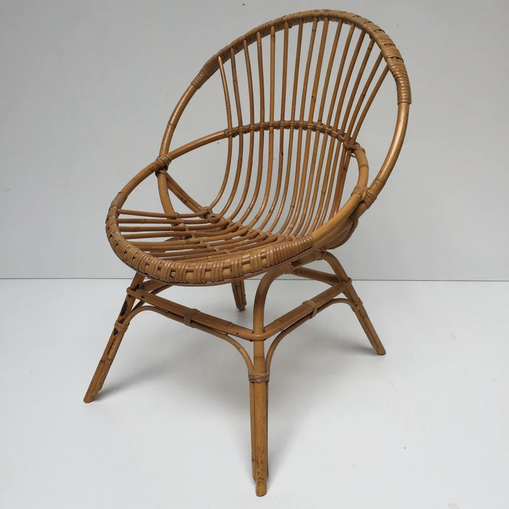 old wicker chairs uk lounge chair for bedroom vintage rattan fauteuil en rotin