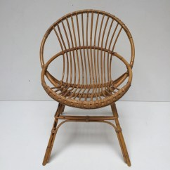 Old Wicker Chairs Uk Pub Height Target Vintage Rattan Chair Fauteuil En Rotin