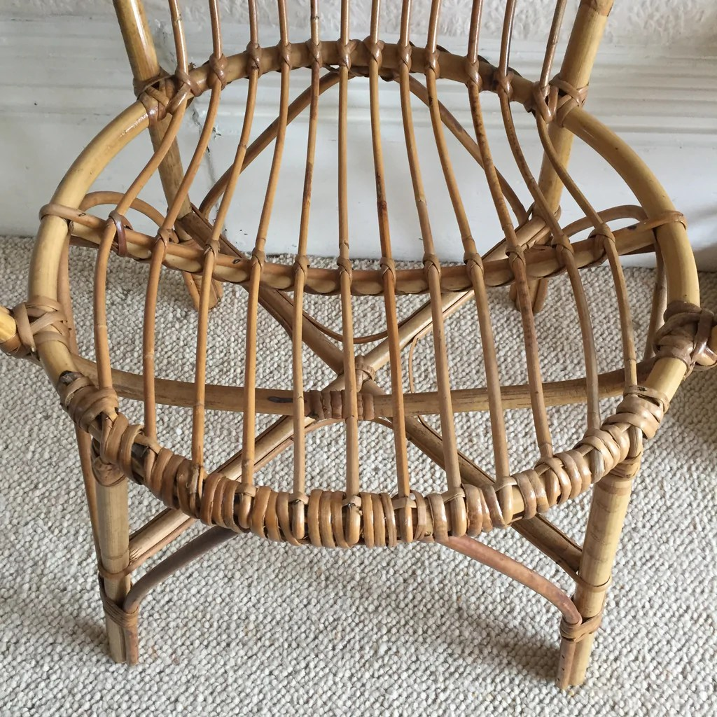 old wicker chairs uk navy blue chair vintage rattan fauteuil rotin