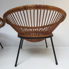 Old Wicker Chairs Uk Chair Cover Rental Little Rock Pair Of Vintage Rattan Sunburst Paire De
