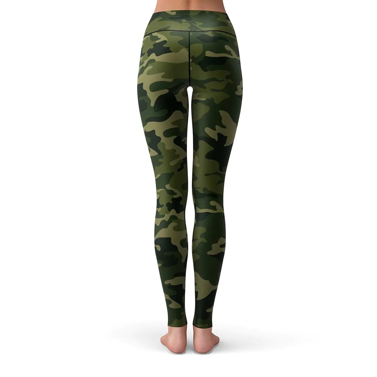camo leggings forest green