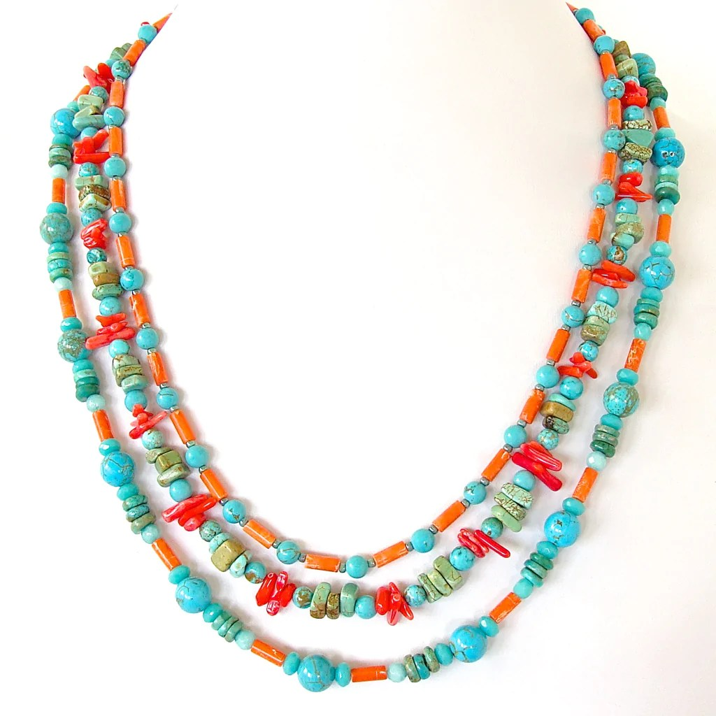 Kokomo Turquoise and Coral Jewelry  Earth and Moon Design