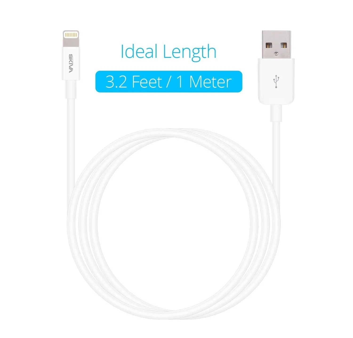 small resolution of apple mfi certified lightning cables 7 pack skiva usblink 3 2 ft 1m fastest sync and charge 8 pin cable cb144