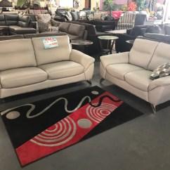 Set Of Leather Sofas Lightweight Sofa Ivan Top Grain Vans Furniture