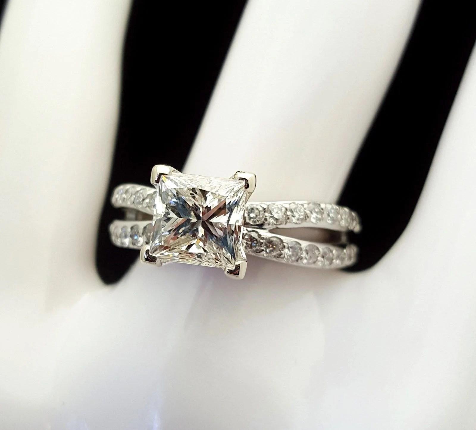 2 Carat Princess Cut Diamond Emgagement Ring - Banque