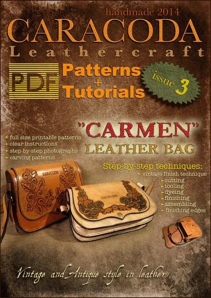 Leathercraft Patterns and Tutorials issue 3 handbag Carmen  Your Leathercraft School