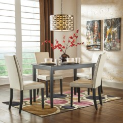 Dinning Room Table And Chairs Blue Dining Chair Covers Kimonte Set By Ashley Regency Furniture Rectangular With Ivory Shop At