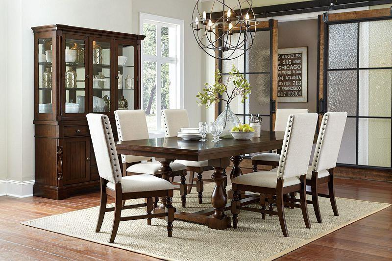 Yates Dark Oak Dining Room Set Regency Furniture