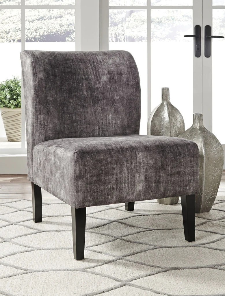 Accent Chairs Ashley Furniture Triptis Charcoal Accent Chair